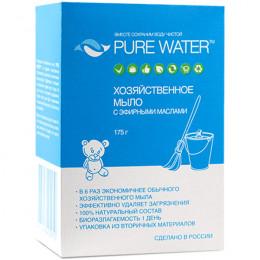 Мыло хозяйственное с эфирными маслами Pure Water 175 г