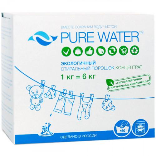 Натуральный стиральный порошок Pure Water 1 кг   MI&KO