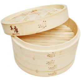 Пароварка бамбуковая Real Tang Bamboo Steamer 18 см