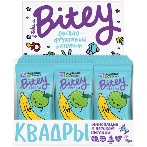 Батончики для детей Байти Квадры Яблоко-Банан 20 шт   600 г