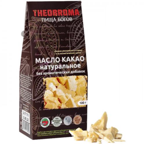 Какао масло холодного отжима Пища Богов (Theobroma) 100 г