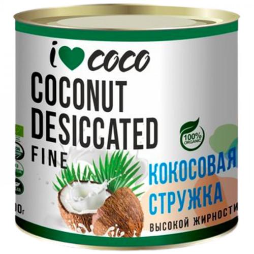 Органическая кокосовая стружка I LOVE COCO (жирность 68%) 100 г   Шри-Ланка