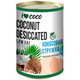 Стружка кокосовая органическая I Love Coco Low Fat 200 г