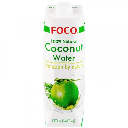 Натуральная кокосовая вода FOCO без добавок 1 литр