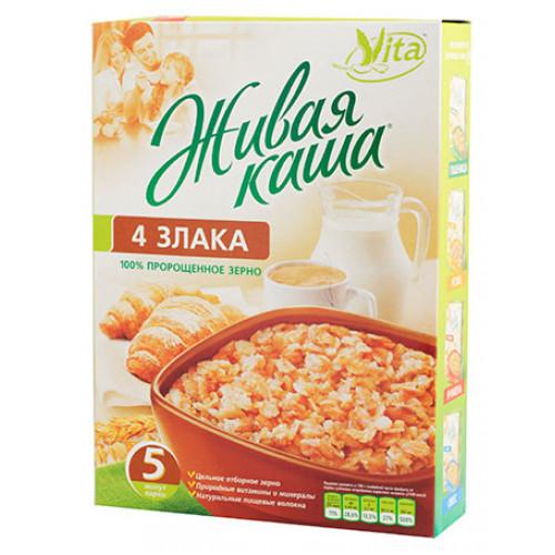 Живая каша VITA из пророщенного зерна | Четыре злака: пшеница, рожь, овёс, ячмень.