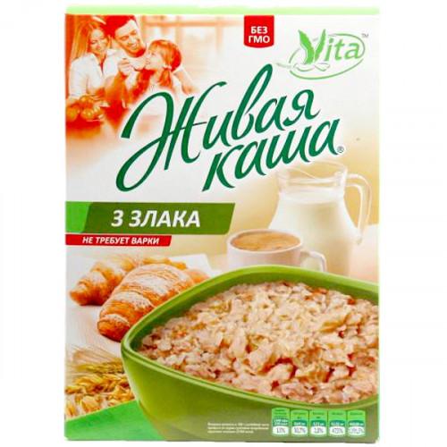 Живая каша VITA из пророщенного зерна | Три злака: пшеница, ячмень, овёс.