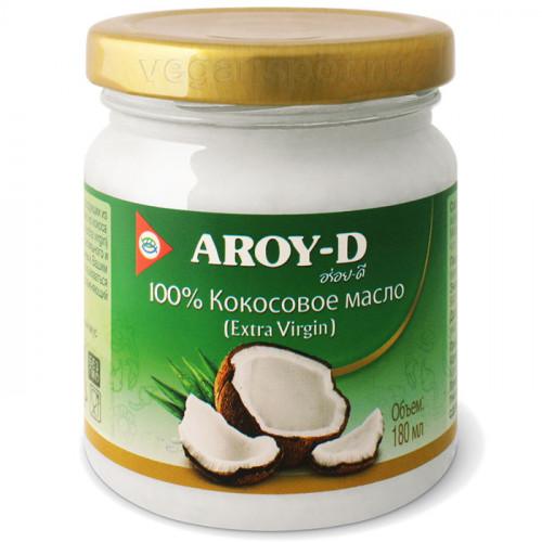 Кокосовое масло холодного отжима, нерафинированное Aroy-D 180 мл (Индонезия)