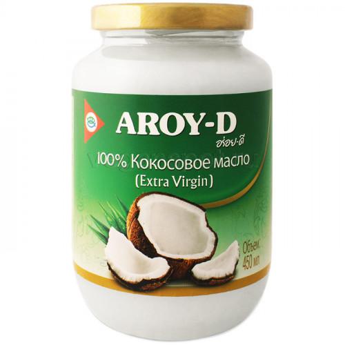 Кокосовое масло холодного отжима Aroy-D 450 мл (Индонезия)