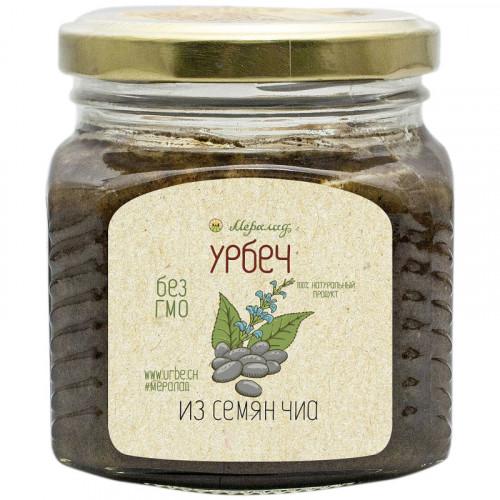 Урбеч из семян чиа на кукурузном масле холодного отжима (40%) Мералад 230 г | г. Киров