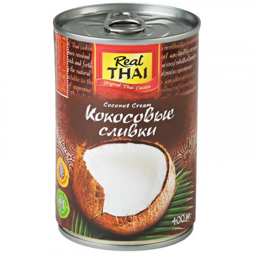 Кокосовый крем Риал Тай (Real Thai) 95% кокоса, жирность 21%   400 мл   Тайланд