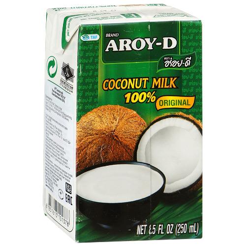 Кокосовое молоко Aroy-D из Индонезии (жирность 18%) 250 мл