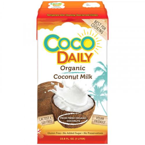 Органическое кокосовое молоко Coco Daily 1 литр, жирность 18%   Филиппины