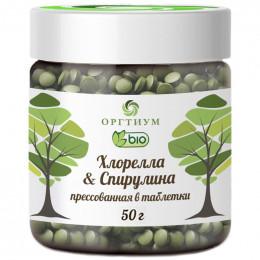 Хлорелла и Спирулина таблетки Оргтиум 50 г