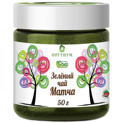 Зелёный чай Матча – порошок из листьев зелёного чая Оргтиум 50 г   КНР