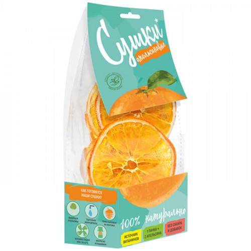 Фруктовые сушки Апельсиновые PastiLab без сахара 30 г