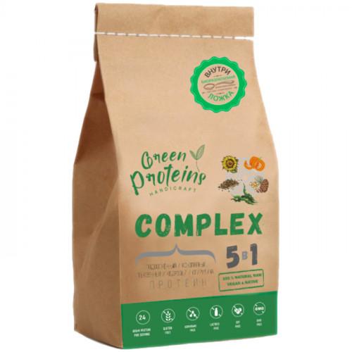 Смесь растительных протеинов Complex 5 в 1 со Спирулиной Green Proteins 900 г