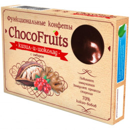 Конфеты ChocoFruits Кизил и шоколад с имбирём 90 г