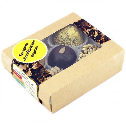 Сыроедческие конфеты Ассорти с какао, орехами и сухофруктами White Goose 100 г