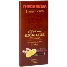 Шоколад с лимоном и имбирём Пища Богов 72 г
