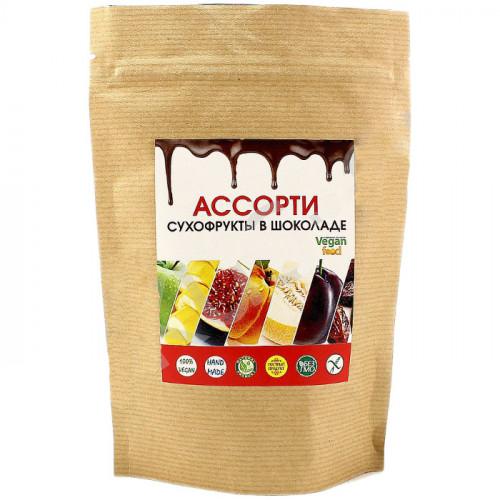 Ассорти сухофруктов в шоколаде из кэроба Веганфуд 100 г