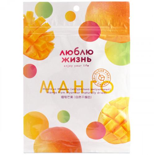 "Манго сушеное натуральное без сахара ""Люблю Жизнь"" 80 г"