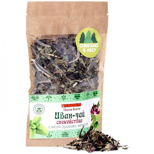Крупнолистовой ферментированный иван-чай с мятой и мелиссой Чайная Трапеза 30 г