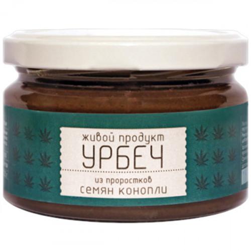 Урбеч из пророщенных семян конопли Живой продукт 225 г