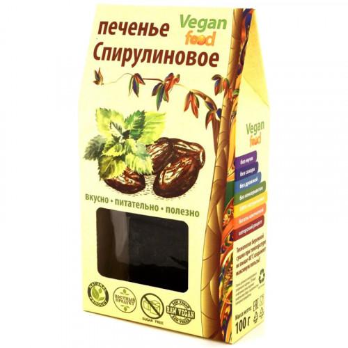 """Сыроедческое печенье Веганфуд """"Спирулиновое"""" 100 г"""