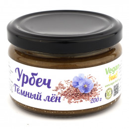 Урбеч из семян тёмного льна Vegan food 200 г