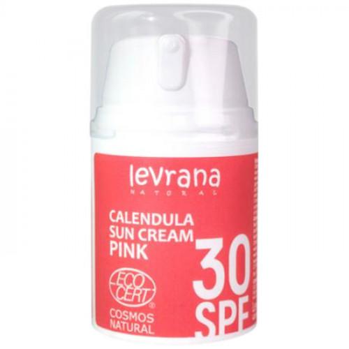Солнцезащитный крем для лица и тела Календула SPF30 PINK Levrana 50 мл
