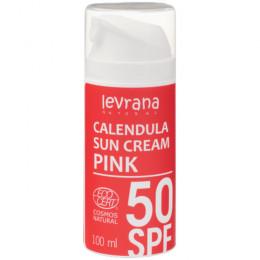 Крем солнцезащитный Календула SPF50 PINK Levrana 100 мл