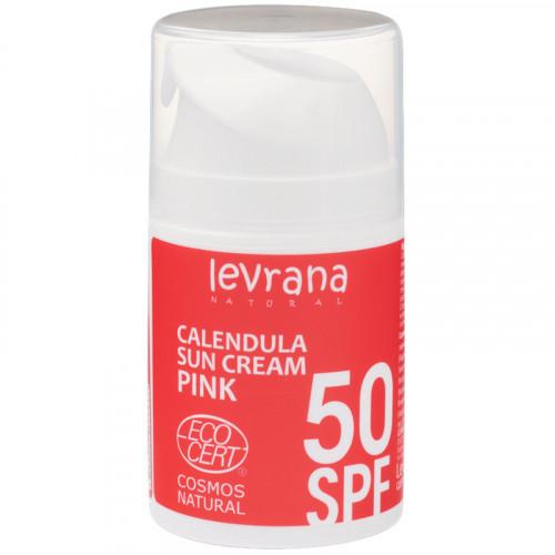 Солнцезащитный крем для лица и тела Календула SPF50 PINK Levrana 50 мл