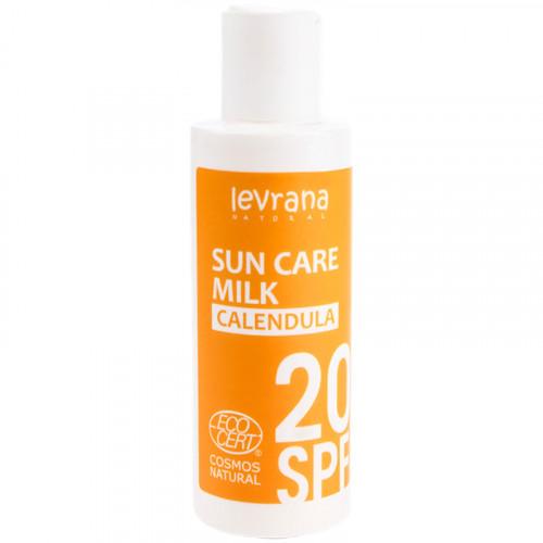 Солнцезащитное молочко для лица и тела Календула SPF20 Levrana 150 мл