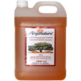 Масло аргановое холодного отжима из сырых семян Arganature 5 л