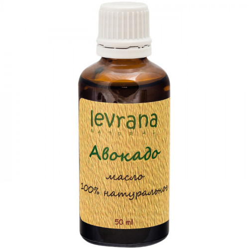 Натуральное рафинированное масло Авокадо Levrana для лица и волос 50 мл | Италия