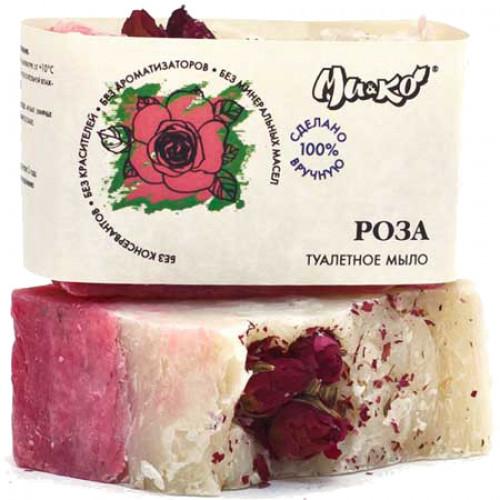 Туалетное мыло Роза МиКо с маслом Бабассу 75 г