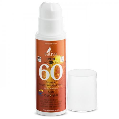 Минеральный солнцезащитный крем Sativa №60 для всей семьи 150 мл | SPF 30