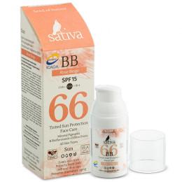 Крем солнцезащитный Sativa №66 Rose Beige 30 мл