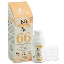 Крем солнцезащитный Sativa №66 Sand Beige 30 мл
